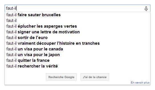 Quand Google devine les pensées...
