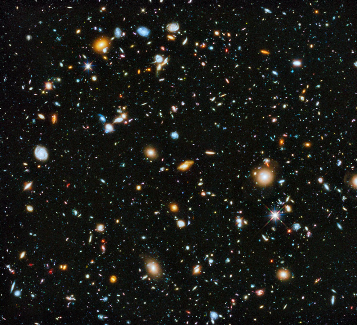 Hubble ultra deep field 2014 version : un joli morceau d'univers