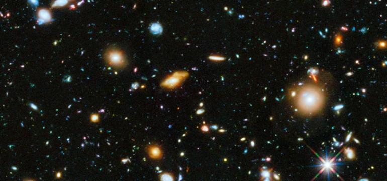 """Une portion du """"Hubble ultra deep field """""""