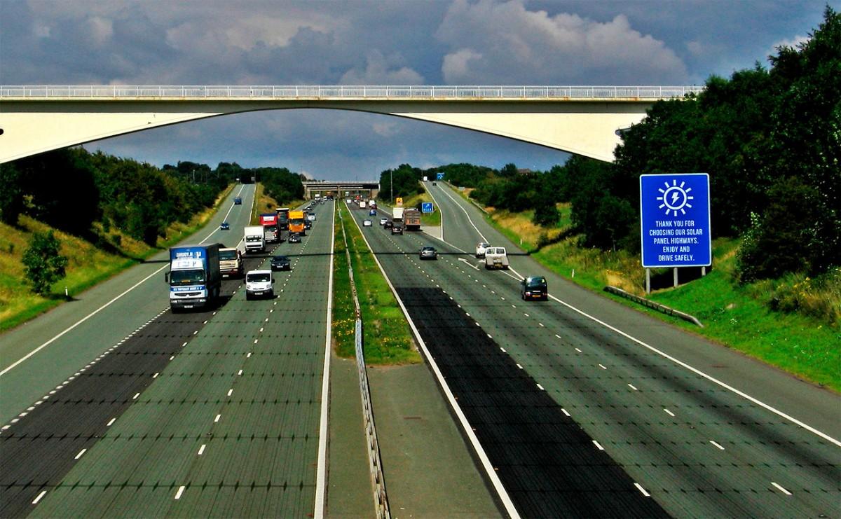 panneaux du futur - autoroute solaire