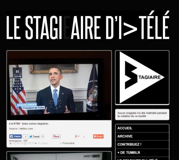 TUMBLR Le Stagiaire d'i-télé