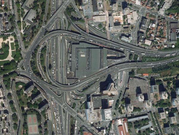 Échangeur autoroutier - Porte de Bagnolet - France