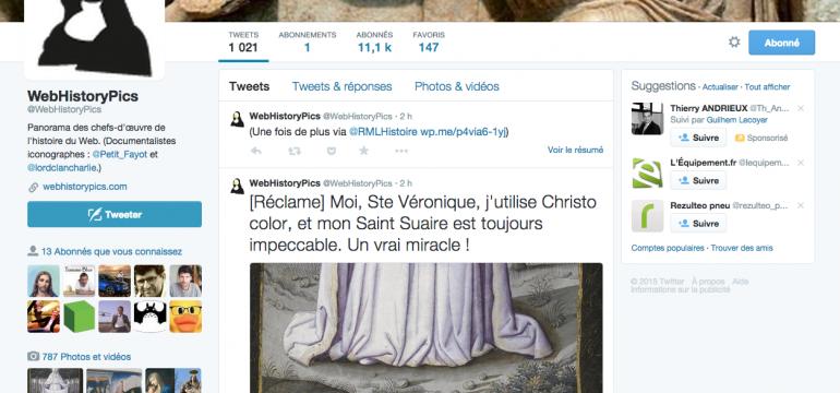 Le compte Twitter de WebHistoryPics