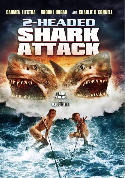 Affiche Film L'attaque du requin à deux tetes