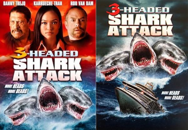 Affiche Film L'attaque du requin à trois têtes