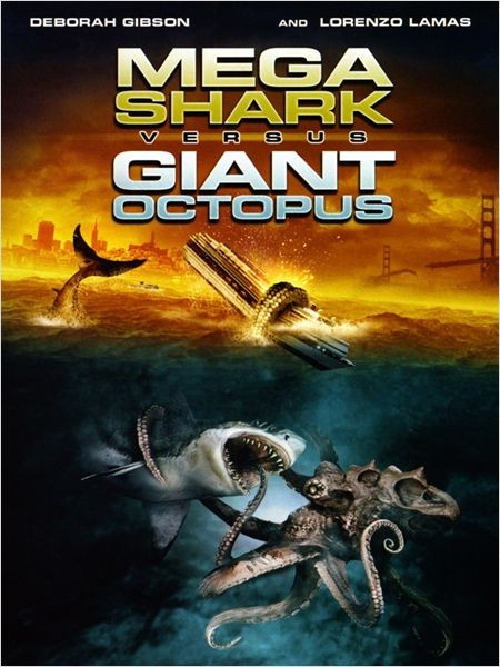 Affiche Film Mega Shark VS Giant Octopus
