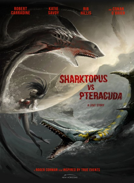 Affiche film Sharktopus VS Pteracuda