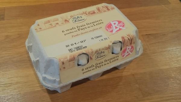 Une boîte d'Oeufs Reflets de France Label rouge - Copyright Le Curionaute / Brice Perrin