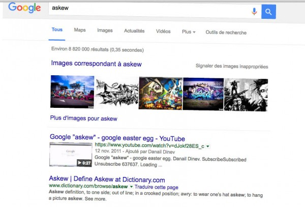 Easter egg Buzzfeed Google askew