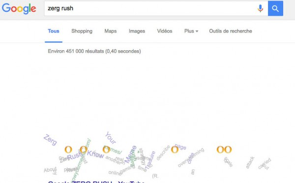 Easter egg Google Zerg