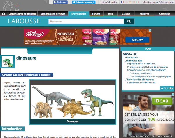 L'encyclopédie Larousse en ligne - adaptée aux enfants