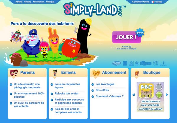 Simply-Land, des jeux éducatifs pour enfants