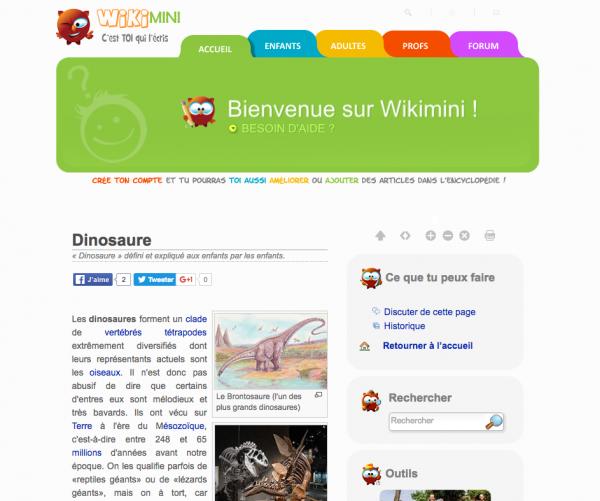 Wikimini, une encyclopédie pour les enfants