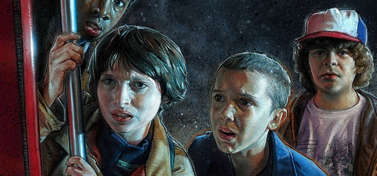 Stranger Things Les enfants vus par l'illustrateur Kyle Lambert