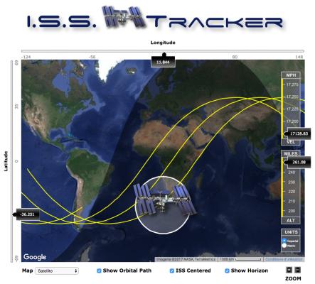 Astronomie - ISSTracker