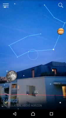 Astronomie - SkyView Jupiter et Lune