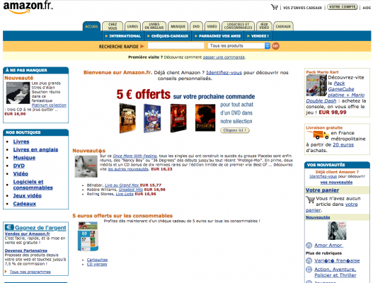 Amazon en octobre 2004
