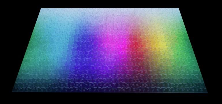 Un puzzle de 1000 pièces en quadrichromie CMJN