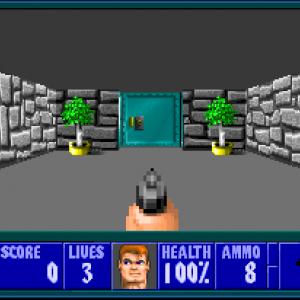 Wolfenstein 3D - oh, la belle porte.