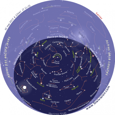 Astronomie - Carte Stelvision